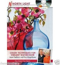 NEW! Color Techniques for Vibrant Watercolor Joyce Faulknor & Guy Magalla [DVD]