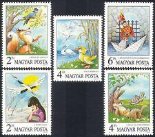 UNGHERIA 1987 FIABE/Gru/Duck/SOLDATO/Fox/Lepre/Tartaruga/libri 5v Set n3986