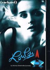 PUBLICITE ADVERTISING   1988    LE NOUVEAU PARFUM de CACHAREL   LOULOU