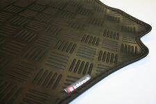 Fiat Stilo (02-now) Richbrook Black 3mm Rubber Car Mats - Leather Trim