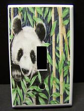 PANDA BEAR #2  LIGHT SWITCH COVER PLATE