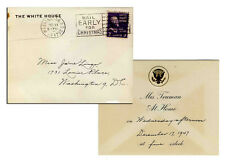 3 White House Invitations by Harry S. Truman 1947