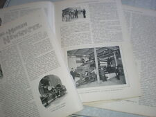 Photo article Making A Modern Newspaper by Editor Daily Mail A C Harmsworth 1898
