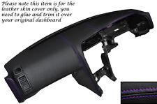 Púrpura Stitch Dash Dashboard, cubierta de cuero se adapta a Nissan Skyline Gt Gtr R33 93-98