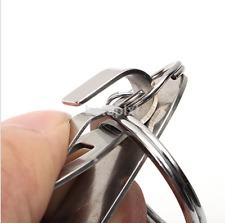 Stainless Steel Belt Key Ring Clip On & Release Keychain Key Holder FR