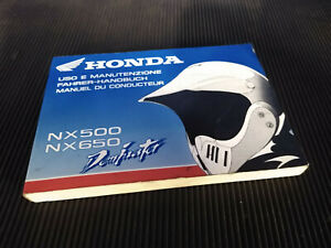 Honda NX650 Dominator 94 Uso e manutenzione fahrer-handbuch manuel de conducteur