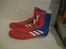 New Adidas Box Hog Plus Boxing Shoes Sparring Boots Da9896 Mens Size 11 Red Blue