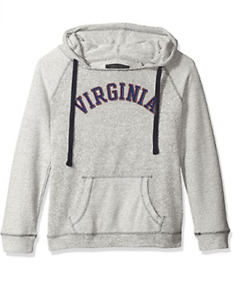 Camp David NCAA Virginia Cavaliers Women's Reverse Sleeve and Pocket Hoodie, Med