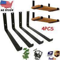 4PCS Heavy Duty  Shelf Brackets Floating Shelf Brackets L Brackets for Shelves