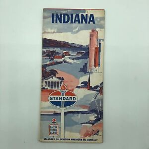 Indiana IN - Standard Oil Map - 1963