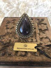 Samantha Wills Amethyst Gold Edge Bardot Ring