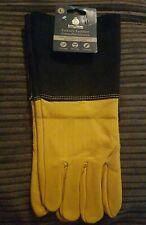 Kent & Stowe Luxury Leather Gauntlet Gloves (L).