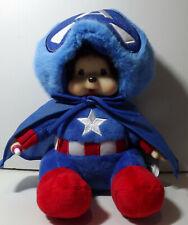 Monchichi Mignon Captain America KIKI Peluche 20 cm NEUF