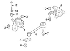 Right Side Motor Mount for Mitsubishi Mirage 2014-2020