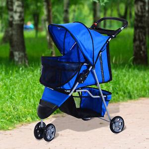 PawHut PawHut Pet Travel Stroller Dog Puppy Cat Jogging Pushchair Carrier w/