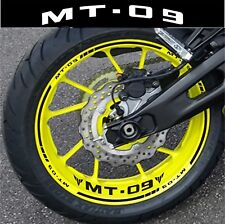 LISERETS JANTES MT09 MT 09 STICKERS MOTO kit pour 2 jantes 40 couleurs