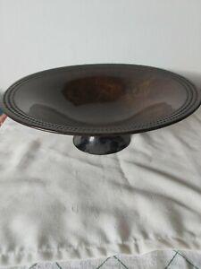 Vintage Laura Ashley Fruit Pedestal Decorative Bowl Copper Effect Round