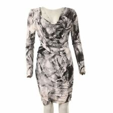 SUPERTRASH Dress Black White Gathered Size Medium DP 115
