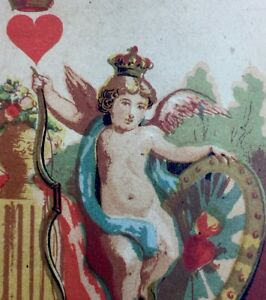 c1850 King of Hearts Historic Transformation Playing Cards French Court Single