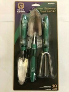 SPEAR AND JACKSON GARDEN HAND TOOL SET TROWEL CULTIVATOR STAINLESS STEEL