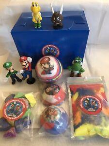 Inspired by Super mario Kids 5 Hand Made  Bath Bombs Gift Set/hidden Treasure