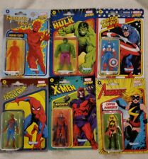 Lot of 6 Hasbro/Kenner Marvel Legends Retro 3.75 Spiderman,Hulk,Captain,Series-1