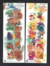 JAPAN 2019 Greeting Autumn Mini Flower Pumpin S/S Sticker x 2 stamp
