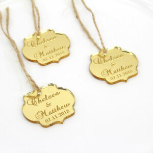 50 Pcs Personalized Tag Wedding Table Party Name Baby Baptism Decor Custome Gift