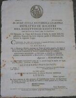 1798 MILANO REPUBBLICA CISALPINA SU PREMIO PER PROGETTO FIUME MINCIO NAVIGABILE