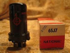 Vintage National 6SJ7  Radio Tube NOS NIB Metal Red Letter Excellent