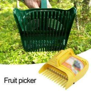 Yellow Plastic Fruit Pickers For Garden And Vegetable Tool Gardening Patch Z2W7