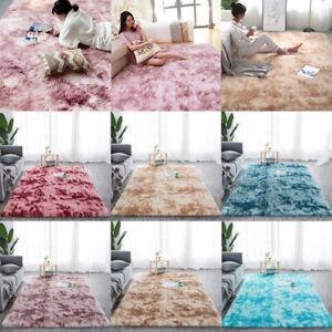 Shaggy Tie-dye Carpet Printed Plush Floor Fluffy Mats Area Rug Living Room MaBA