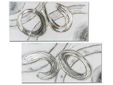 exclusiva Diseñador mural con aluminio PLATA 100x50 cm