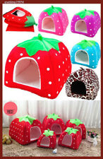 Strawberry,Pet,Cat,Dog,Bed,House,Cottage,Kennel,Cabin,Bunkers,Portable,Plush,New