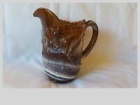 "Vintage Imperial Glass Purple Amethyst Slag Pitcher Windmill 6.5"" Excellent"