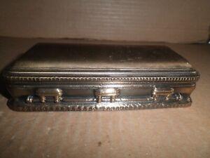 Great old original metal Casket shaped paperweight c.1960's