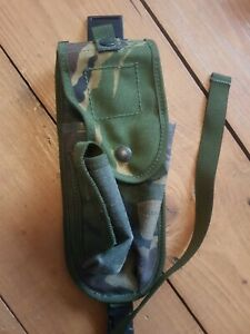 British Army PLCE HOLSTER - DPM - Used GRADE 2 - WITH FLAP - Very Worn - No2