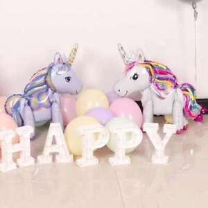 60cm 3D Standing Foil Unicorn Balloon Birthday Baby Party 3 Colour AU Stock