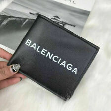 100% authentic men's BALENCIAGA² wallet card holder clutch leather black
