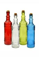 Colorful Vintage Glass Bottle with Cork Top Fall Decor Valentine 4
