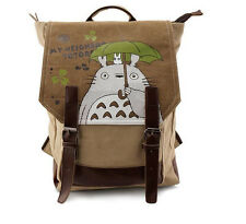 Studio Ghibli My Neighbor Totoro Canvas Backpack School Shoulder Bag Rucksack