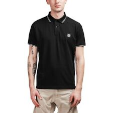 100% AUTHENTIC Stone Island Slim-Fit Piqué Black Polo Shirt Size Small RRP £125