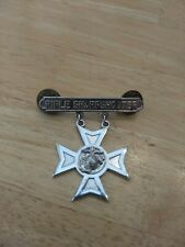 Marine Corps Rifle Sharpshooter Medal Sterling Silver with brass Pin Clips