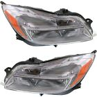 Headlight Set For 2011 2012 2013 Buick Regal Left and Right With Bulb 2Pc