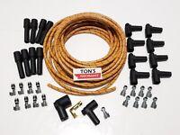 DIY Universal Cloth Covered Spark Plug Wire Kit Set Vintage Wires v6 v8 Or Black