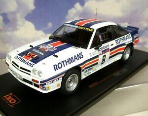 IXO 1/18 ROTHMANS OPEL MANTA 400 #8 3RD LOMBARD RAC RALLY 1983 MCRAE/GRINDROD