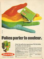 Publicité 1971  FUJI FILM pellicules japonaises FUJI 100 ASA