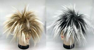Gold Silver Mullet Wig 80s Spiky Wig Men's Hippie