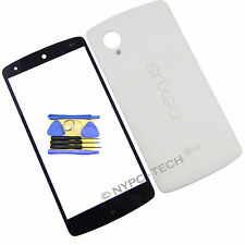 Glass Screen & Battery Back Cover NFC Vibrator For LG Nexus 5 D820 D821 + Tools