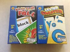 New Set Carson Dellosa Flip, Flip, Fall & Letter Coaster Games